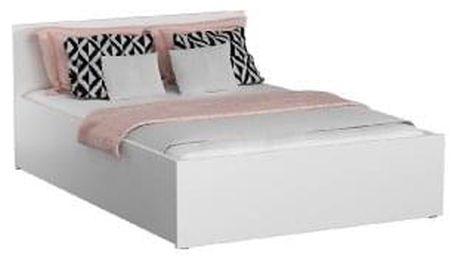 Dřevěná postel DM1 bílá, 160x200 + rošt ZDARMA