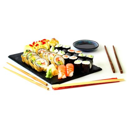 Exkluzivní sushi sety s sebou. Losos, avokádo i kaviár