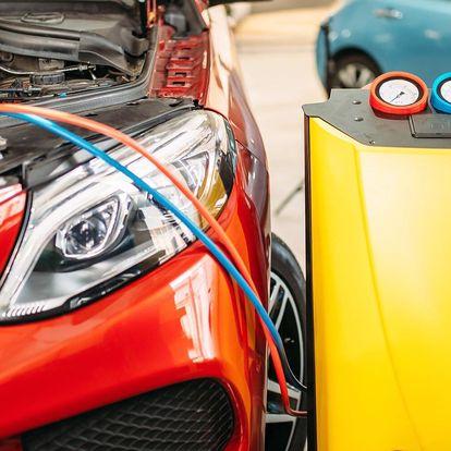 Čištění klimatizace auta a plnění chladivem