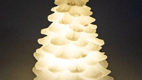 Vánoční LED svíčka Alabaster tree, 12 cm