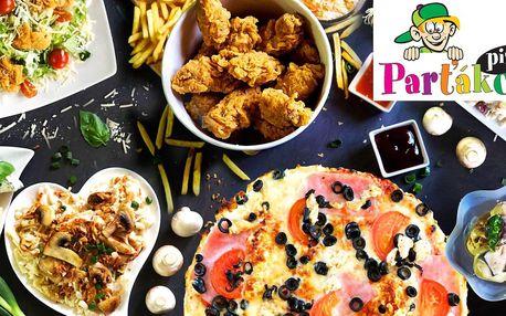 Otevřené vouchery na jídlo i pití z Parťákovy pizzy