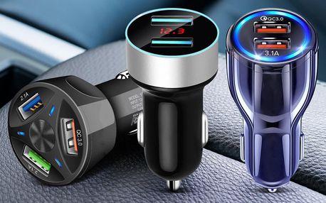 Rychlonabíječky do auta: až 3 USB porty současně