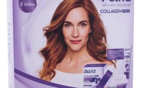 Astrid Collagen PRO dárková kazeta proti vráskám pro ženy denní pleťová péče Collagen PRO 50 ml + oční krém Collagen PRO 15 ml