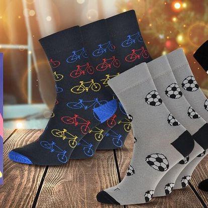 Dárkové sety ponožek se sportovními motivy