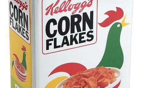 Plechová dóza Cornflakes, 17,6 x 9,6 x 24,7 cm