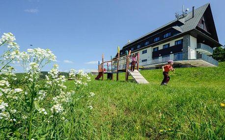 Fiesovy boudy v Krkonoších s dětským hřištěm