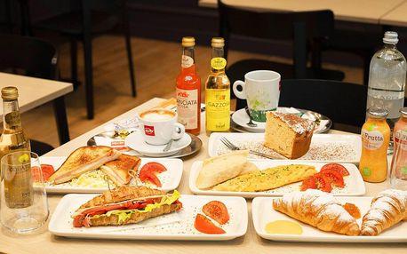 Pravá italská snídaně i s nápojem pro 1 či 2 osoby