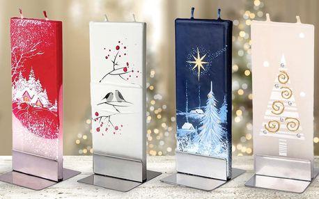 Ručně vyráběné a malované vánoční svíčky