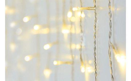 Vánoční světelný déšť 180 LED, IP44, 6 m, teplá bílá