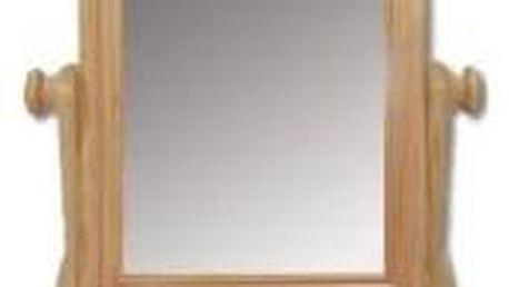Dřevěné výklopné zrcadlo se šuplíkem LT101 gray