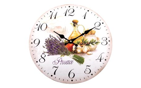 Nástěnné hodiny Provence styl, 34 cm