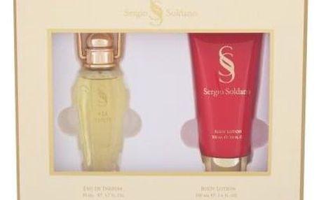 Sergio Soldano Via Venti dárková kazeta pro ženy parfémovaná voda 50 ml + tělové mléko 100 ml