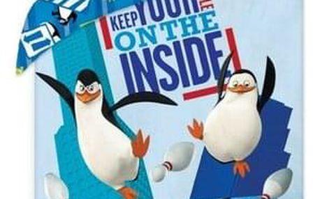Halantex Dětské bavlněné povlečení The Penguins of Madagascar, 140 x 200 cm, 70 x 90 cm