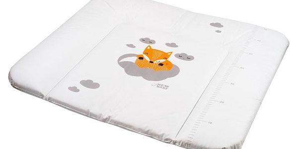 Přebalovací podložka měkká New Baby Liška bílá 85x70cm2