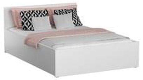 Dřevěná postel DM1 bílá, 140x200 + rošt ZDARMA