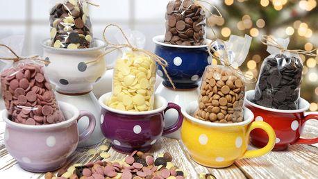 Ručně malované bucláčky s čokoládou: 6 barev