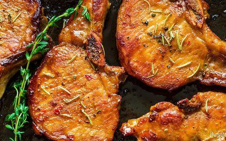 Steaky z krkovice i masová hostina až pro 8 osob