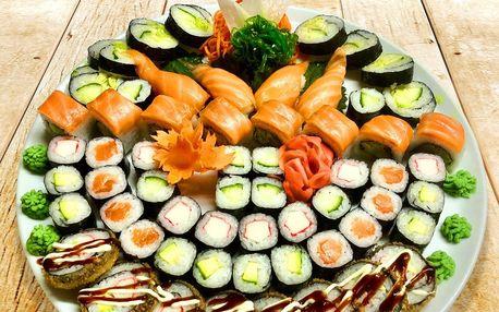 24 či 60 ks sushi: sety s lososem, krabem i vege