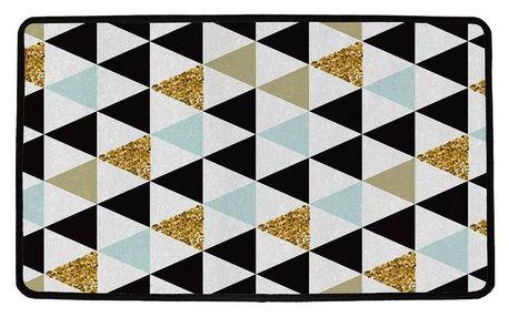 Butter Kings Vnitřní multifunkční rohožka Gold triangles, 75 x 45 cm