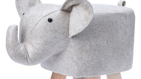 Látkový taburet ve tvaru slona, 50 x 28 x 26 cm