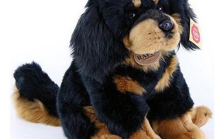 Rappa Plyšový sedící pes Tibetská doga - Mastiff, 26 cm