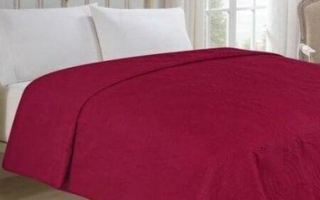 Jahu Přehoz na postel Royal vínová, 220 x 240 cm