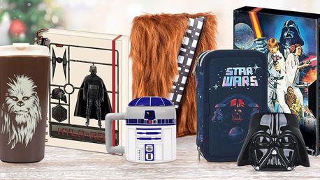 Dárky s motivy Star Wars: hrnky, lahve, penály i bloky