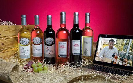 Dárkový balíček šesti druhů vín od Pierra Richarda a Gérarda Depardieu + videodegustace se someliérem