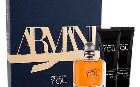 Giorgio Armani Emporio Armani Stronger With You dárková kazeta pro muže toaletní voda 100 ml + sprchový gel 2x 75 ml