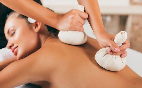 Bylinná masáž zad, šíje a hlavy či kineziotaping