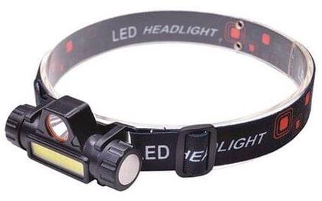 Solight WN32 Čelová nabíjecí LED svítilna USB