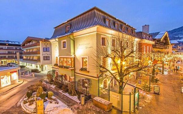 Zell am See u ski areálů v luxusním Hotelu Grüner Baum **** s wellness, polopenzí, proseccem a slevami