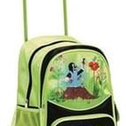 Bino Dětský batoh na kolečkách s Krtkem, zelená