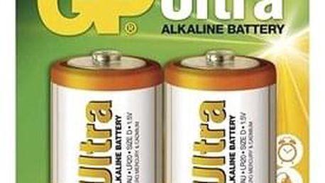 GP Ultra Alkaline LR20 (D) 2ks v blistru