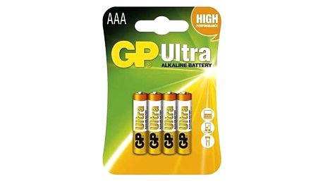 GP Ultra Alkaline LR03 (AAA) 4ks v blistru