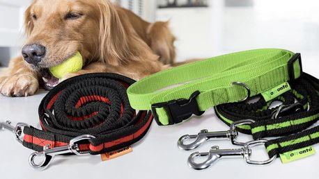 Sportovní vodítka pro psy: 2 druhy, 3 barvy i pás