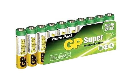 GP Super Alkaline LR03 (AAA) 10ks v blistru