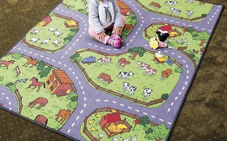 Vopi Dětský koberec Farma, 200 x 200 cm