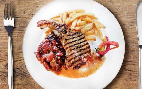 Tomahawk steak se šípkovou i americkými brambory