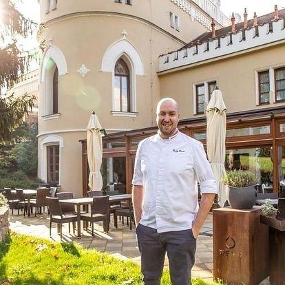 6chodové degustační menu s vinnou degustací v Chateau St. Havel****