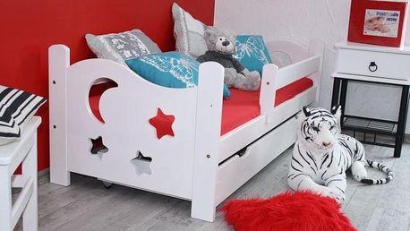 Dětská postel SEWERYN 70 x 160 cm - bezbarvý