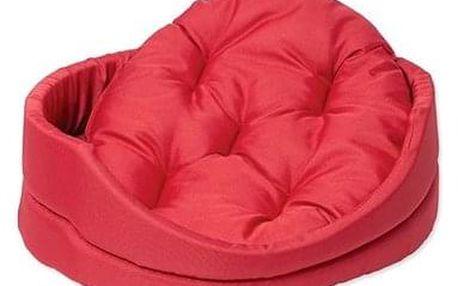 DOG FANTASY pelech oval s polštářem 54×46×16cm červený