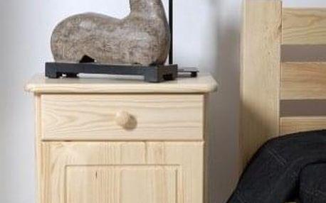 Noční stolek MEGA - bílá
