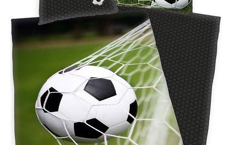 Herding Bavlněné povlečení Fotbal , 140 x 200 cm, 70 x 90 cm