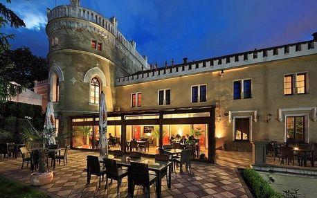 Jedna noc na zámku s degustační večeří v luxusním Chateau St. Havel v Praze