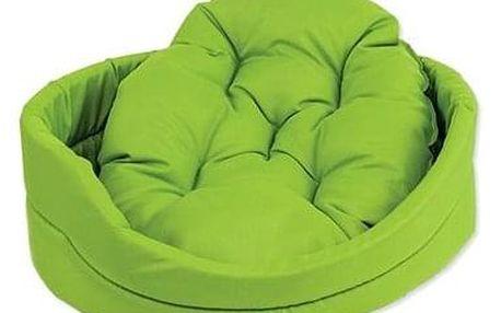 DOG FANTASY pelech oval s polštářem 54×46×16cm zelený