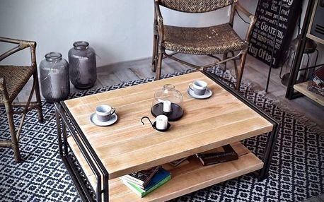Kovový konferenční stolek STEEL WOOD