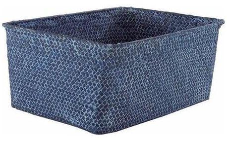 "Compactor Úložný košík Compactor KITO - ručně pletený, 30 x 20 x 13 cm, modrý "" Jeans"""