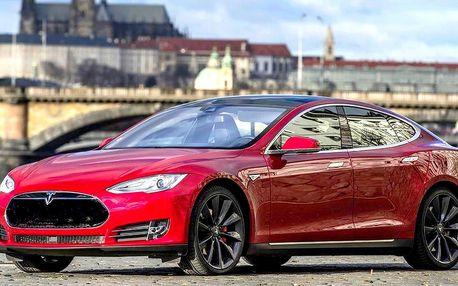 60min. rande s žhavou Teslou Model S pro 1–4 osoby