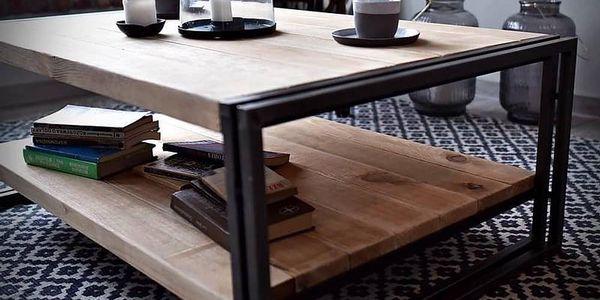 Kovový konferenční stolek STEEL WOOD5